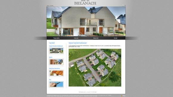 Nowa strona www dla inwestycji dom na bielanach Strona house
